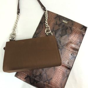 Miche Classic brown Base purse with Shell cover